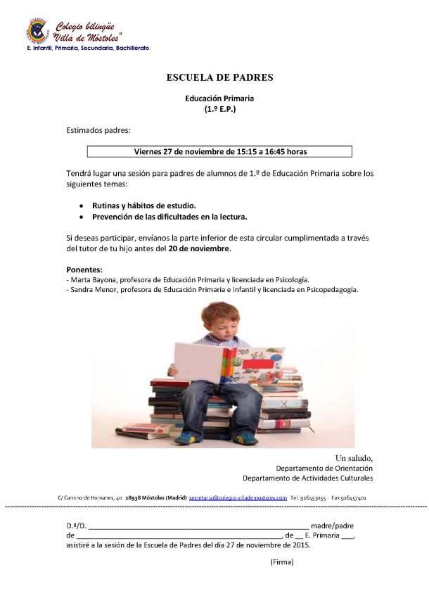 Escuela de Padres 2015-16