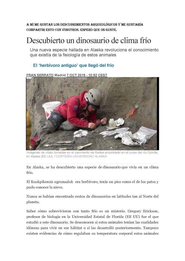 Sergio Ramos Cortinas 6B_Descubierto un dinosaurio de clima frío_Page_1